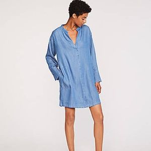 Lou & Grey Chambray Shirt Dress